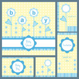Baby shower card set Royalty Free Stock Photography