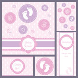 Baby shower card set Stock Photos