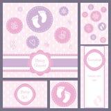 Baby shower card set Stock Photos