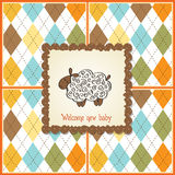 Baby shower card with sheep Stock Photos