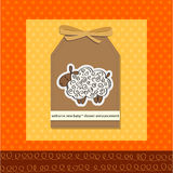 baby shower card with sheep Stock Image