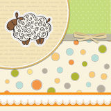 baby shower card with sheep Royalty Free Stock Images