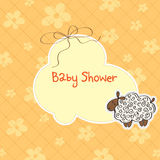 Baby shower card with sheep Stock Images