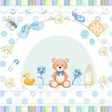 Baby shower card. Royalty Free Stock Images