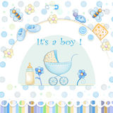Baby shower card. Stock Image