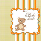 Baby shower card with teddy Royalty Free Stock Photos