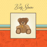 Baby shower card with teddy Stock Photo