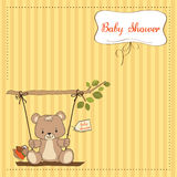 Baby shower card with teddy bear Stock Photography