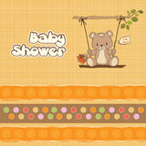 Baby shower card with teddy bear Stock Photo