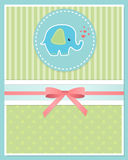 Baby shower card template Royalty Free Stock Photo