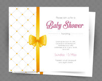 Baby shower card template Stock Images
