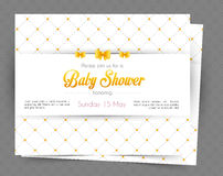 Baby shower card template Stock Photography