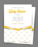 Baby shower card template Royalty Free Stock Image