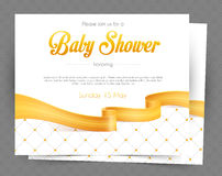 Baby shower card template Royalty Free Stock Images