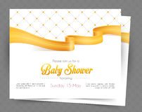 Baby shower card template Royalty Free Stock Photography