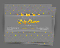 Baby shower card template Royalty Free Stock Photos