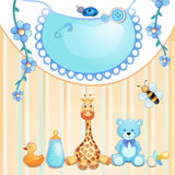 Baby shower card. Royalty Free Stock Image