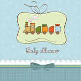 Baby shower card with train Royalty Free Stock Images