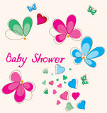 Baby Shower Card Royalty Free Stock Photography
