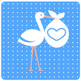 Baby shower card. stock illustration