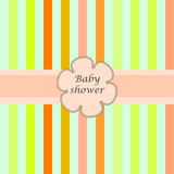 Baby  shower card withframe for your text Stock Photo