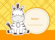 Baby shower card with zebra Stock Photos