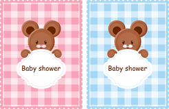 Baby shower cards Stock Photos