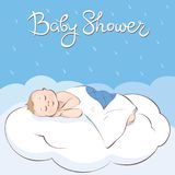Baby Shower cards Royalty Free Stock Images