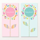 Baby shower cards Royalty Free Stock Photo