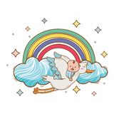 Baby shower cartoon card royalty free illustration