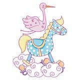 Baby shower cartoon royalty free illustration