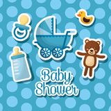 baby shower celebration vector illustration