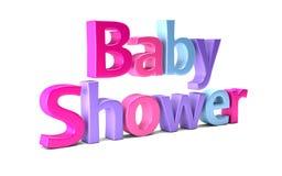 Baby Shower Celebration Word. 3D Rendering Illustration Royalty Free Stock Photo