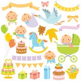 Baby Shower Clipart Set royalty free stock images