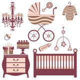 Baby Shower Collection Royalty Free Stock Photos
