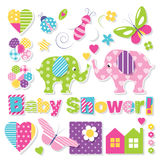 Baby shower collection Stock Images