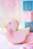 Baby shower cookie Stock Photography