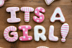 Baby shower cookies royalty free stock images