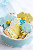 Baby shower cookies Stock Photos