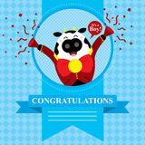 Baby Shower Cow Royalty Free Stock Photo