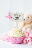 Baby shower cupcake Stock Images