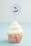 Baby shower cupcake Stock Photos
