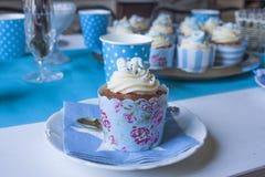 Baby shower cupcake Stock Photo