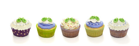 Baby shower cupcakes Royalty Free Stock Photo