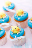 Baby shower cupcakes Royalty Free Stock Image