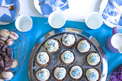 Baby shower cupcakes Stock Photography