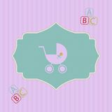 Baby shower - Cute card for girl Royalty Free Stock Photography
