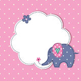 Baby shower with cute cartoon elephant Royalty Free Stock Photos