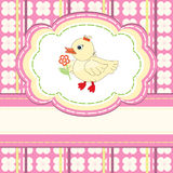 Baby shower with cute duck Royalty Free Stock Photography
