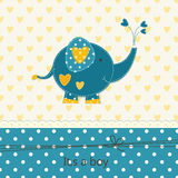 Baby shower with cute elephant Royalty Free Stock Photos